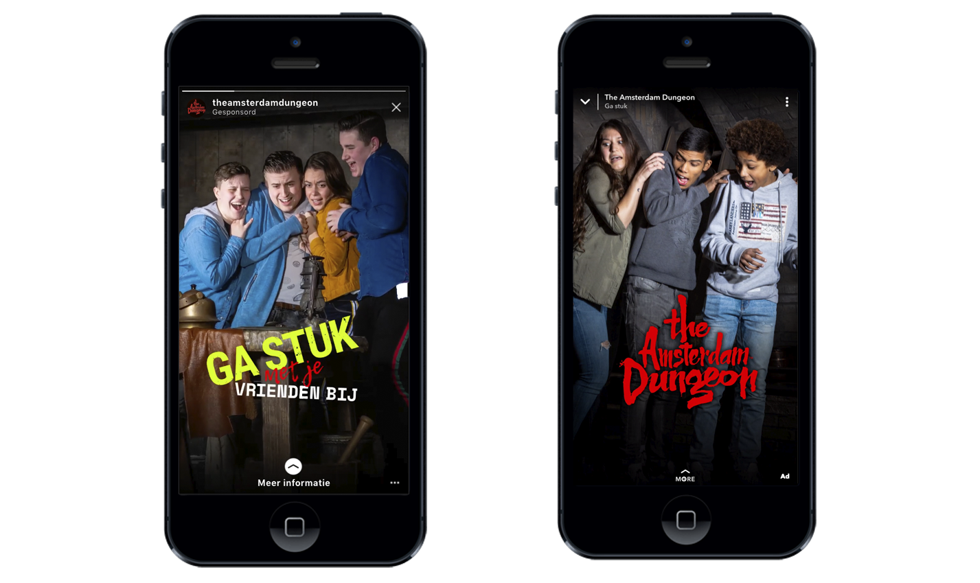 The Amsterdam Dungeon – social advertising